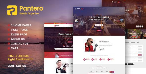 Pantero – Event & Conference PSD Template