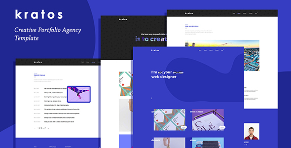 Kratos - Creative Portfolio Agency Template