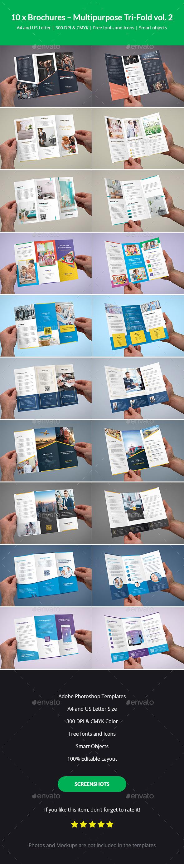 Brochures – Multipurpose Tri-Fold Bundle vol. 2 - Corporate Brochures
