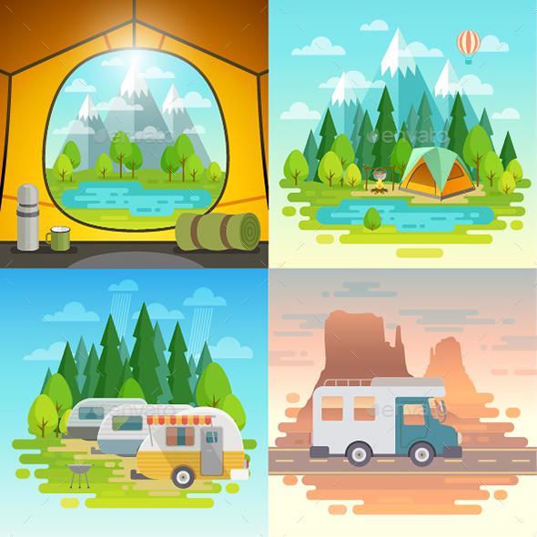 Camping Concept - Travel Conceptual