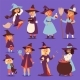 Witch Hag Harridan Vixen with Broom - GraphicRiver Item for Sale