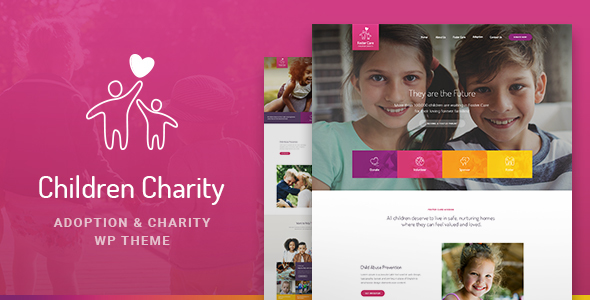 Children Charity – Nonprofit & NGO WordPress Theme with Donations (Charity) images