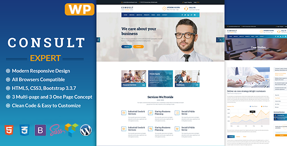 Consult Expert - Finance and Business  WordPress Theme
