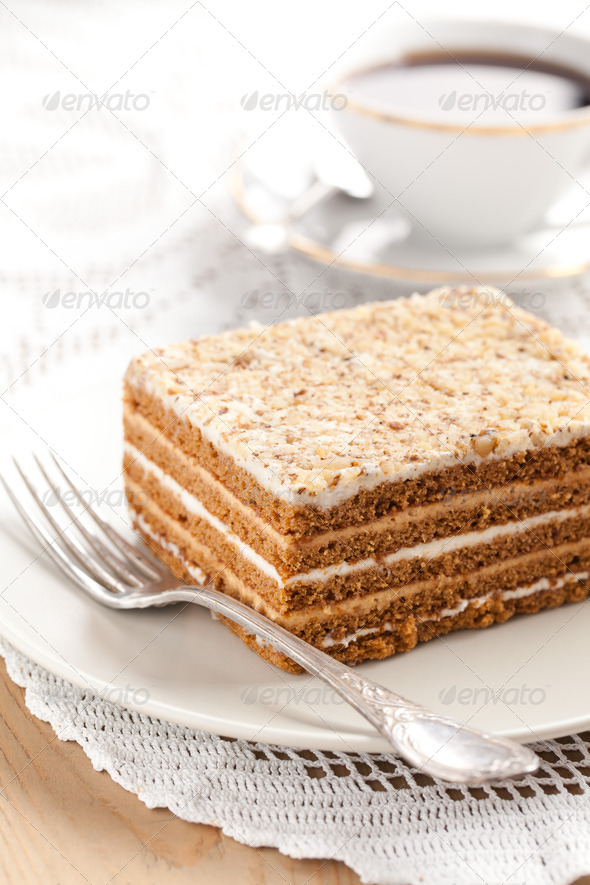 honey cake - Stock Photo - Images
