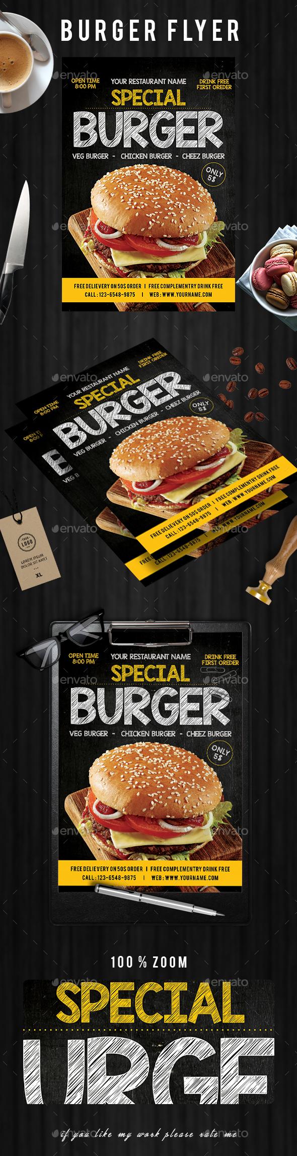 Burger Flyer - Events Flyers