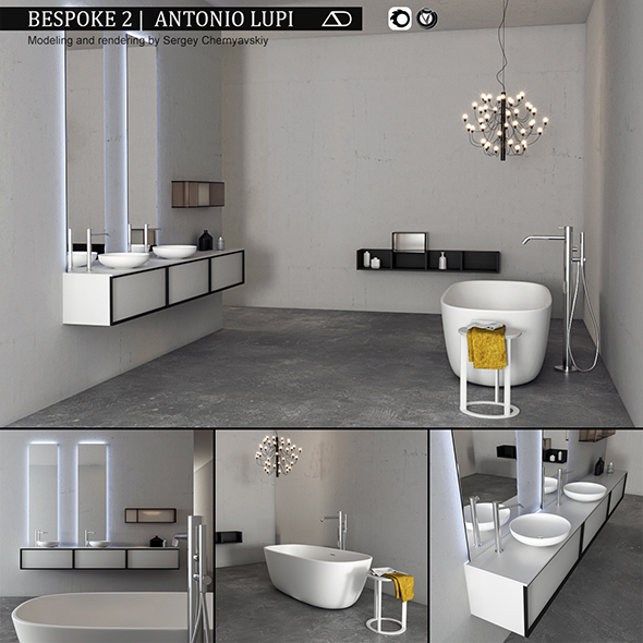Bathroom furniture set Bespoke 2 - 3DOcean Item for Sale