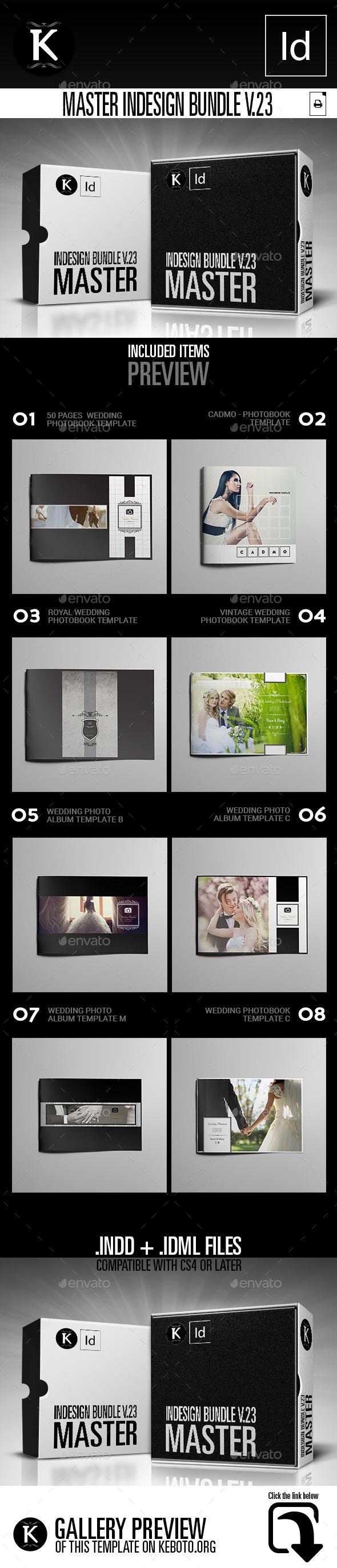 Master inDesign Bundle v.23 - Photo Albums Print Templates