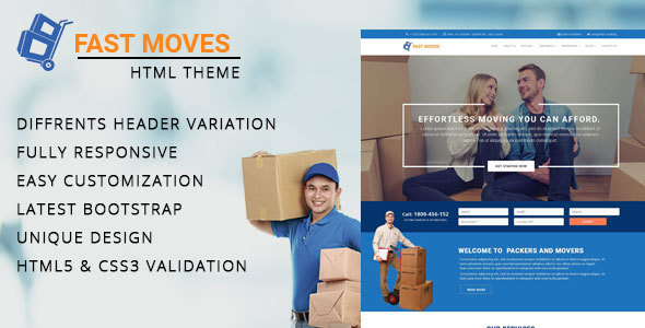 Mover - Company HTML Template - Site Templates