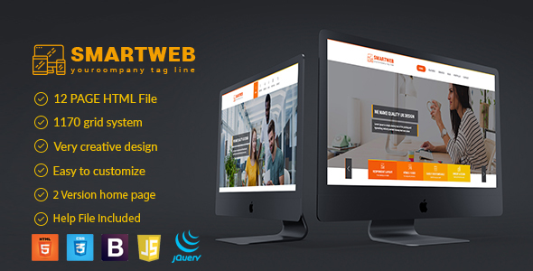 Smartweb - Freelancer Web & Graphic Agency HTML Template - Creative Site Templates