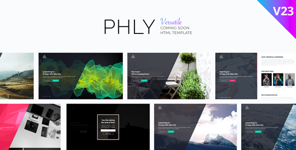 PHLY - Versatile Coming Soon Template - Under Construction Specialty Pages