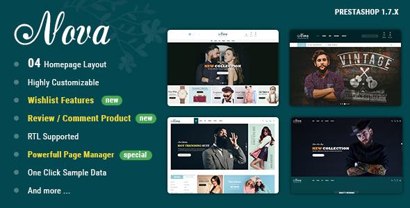 Nova - PrestaShop 1.7 Theme For Fashion Templates