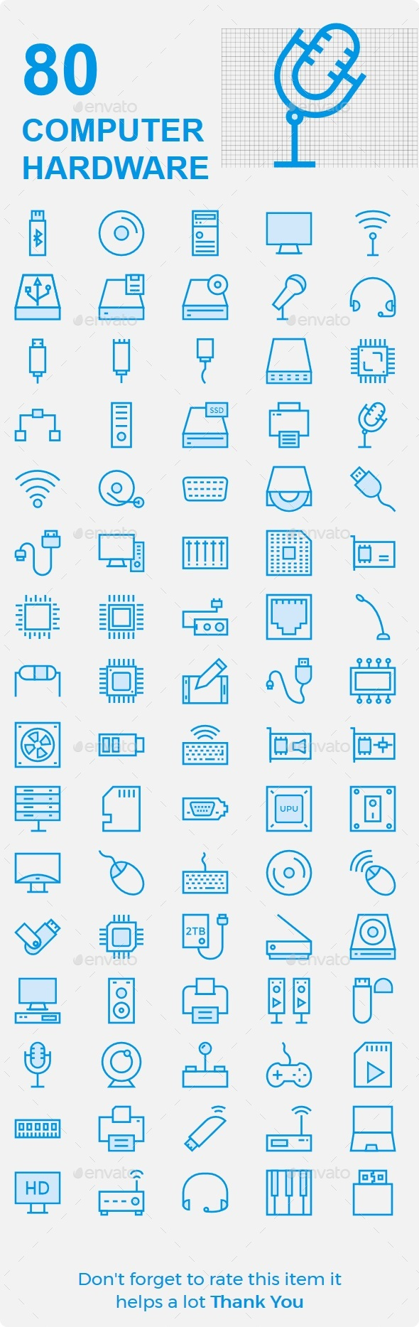 Computer Hardware Cute Icons - Technology Icons