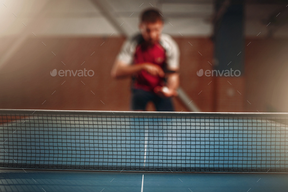 Table tennis net, selective focus - Stock Photo - Images