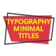 Typography & Minimal Titles - VideoHive Item for Sale