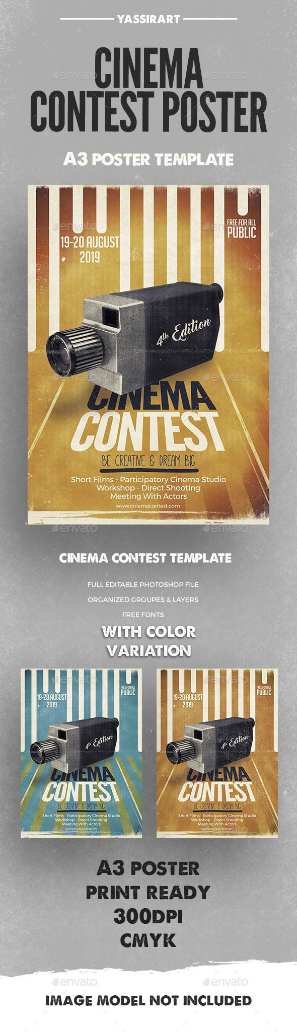Cinema Contest A3 Template - Miscellaneous Events