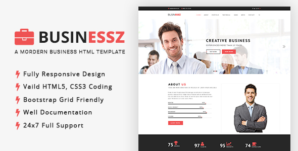 Businessz - Business, Corporate, Agencies HTML Template