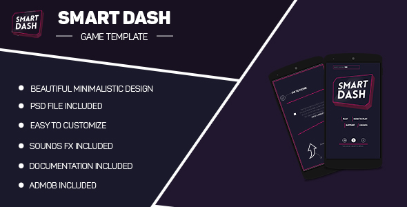 Smart Dash - Minimalistic Game Template - CodeCanyon Item for Sale