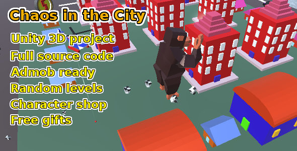 Chaos in the City, Unity game source code - CodeCanyon Item for Sale