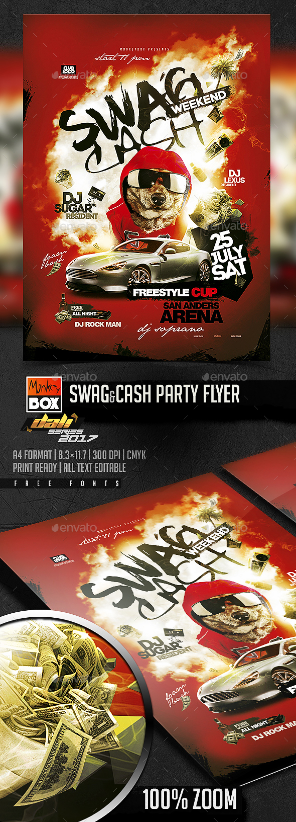 Swag&Cash Party Flyer - Flyers Print Templates