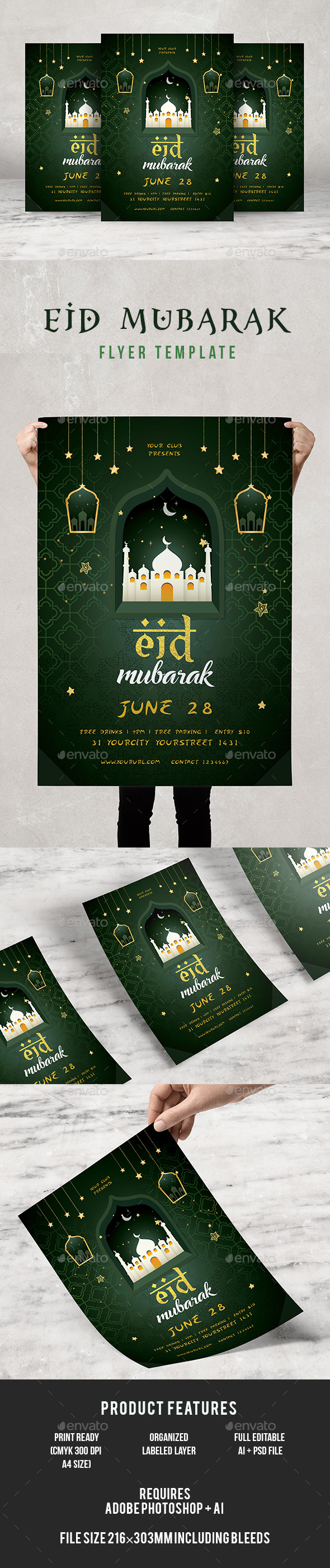Eid Mubarak Flyer - Events Flyers