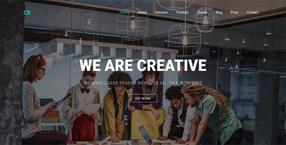 CR – Parallax One Page (Creative) images