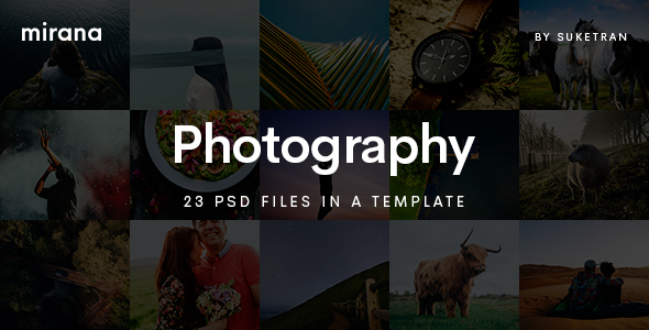 Mirana - Creative Photography PSD Template - Photography Creative