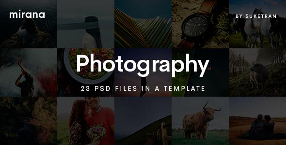 Mirana – Creative Photography PSD Template