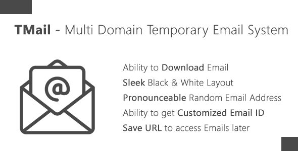 Download TMail - Multi Domain Temporary Email System