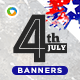 Fourth of July Banners - GraphicRiver Item for Sale
