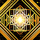 Art Deco Gold Loop Background