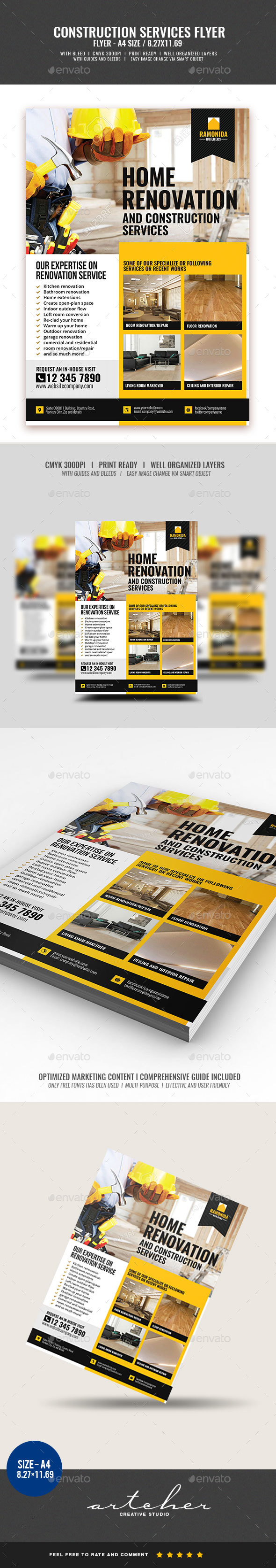 Construction and Building Flyer v2 - Corporate Flyers