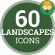 Landscape Nature Tree Outdoor Mountain - Flat Animated Icons and Elements