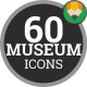 Museum Exhibition Art Gallery - Flat Animated Icons and Elements