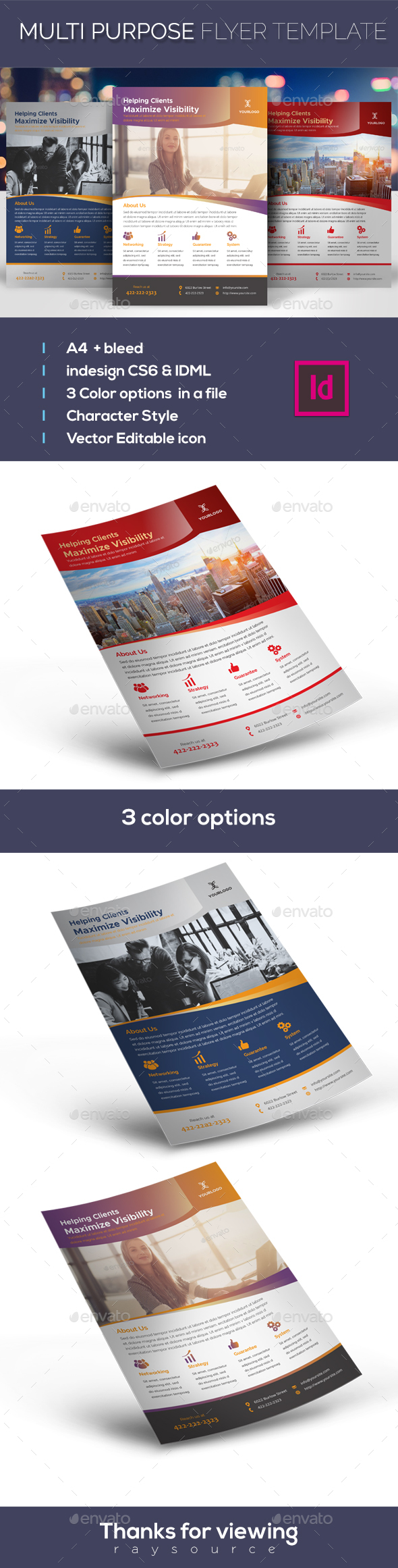 Multi Purpose Flyer - Corporate Flyers