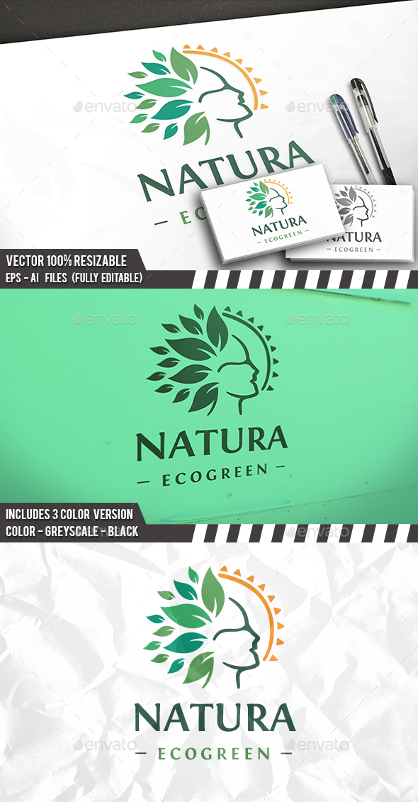 Nature Head Logo - Humans Logo Templates