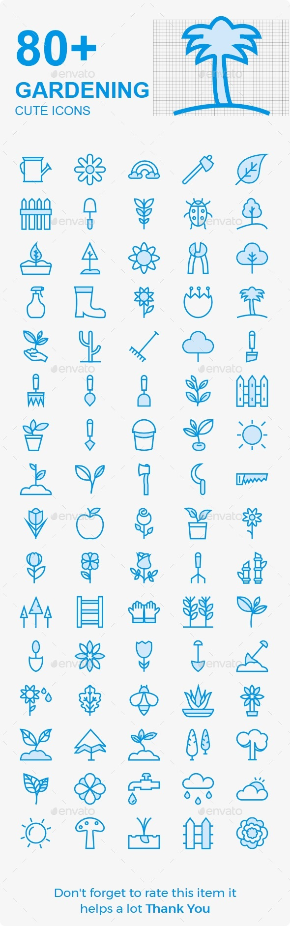 Gardening Cute Icons - Business Icons