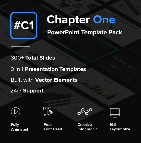 Chapter one creative powerpoint template pack by suavedigital chapter one creative powerpoint template pack powerpoint templates presentation templates toneelgroepblik Images