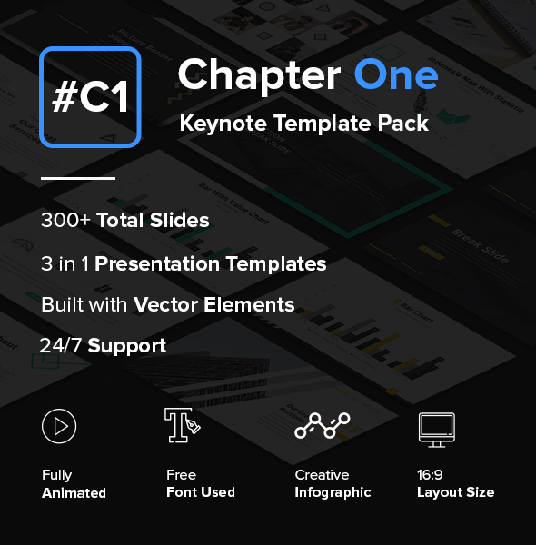 Chapter One - Creative Keynote Template Pack - Creative Keynote Templates