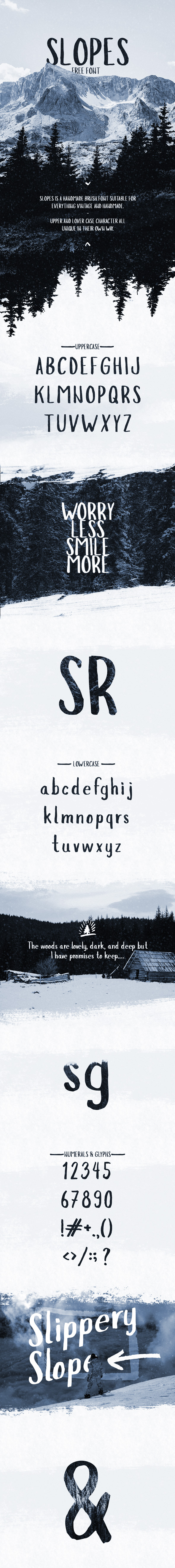 Slopes Brush Font