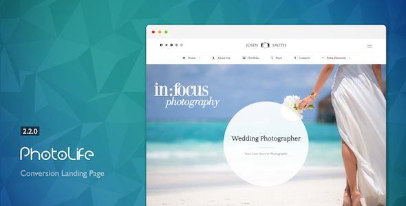 PhotoLife - Landing Page For Photographers with Page Builder - Photography Creative