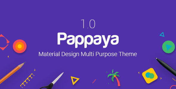 Pappaya | Material Design WordPress Theme