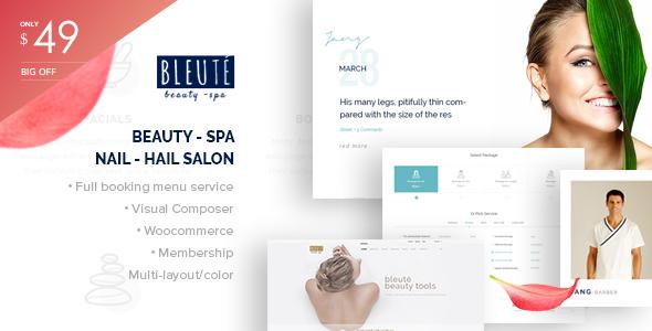 Bleute - WordPress theme Beauty | Spa | Hair Salon | Makeup | Hair | Yoga | Booking WooCommerce - WooCommerce eCommerce