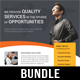4 Corporate Business Flyer Templates Bundle V3