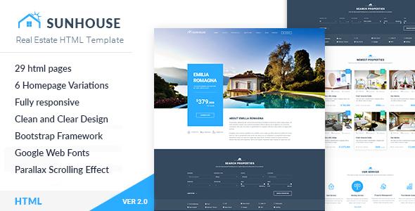 Real Estate HTML Template | SunHouse Free Templates