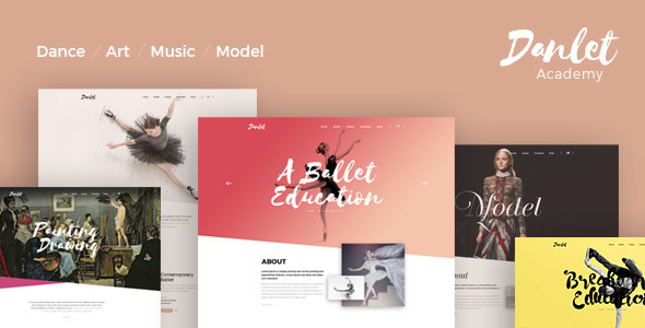 Danlet Academy WordPress Theme - Art Education - Education WordPress