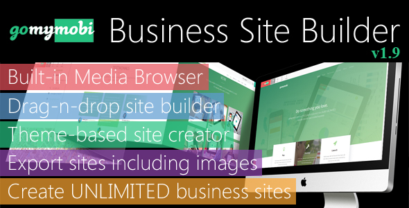 gomymobiBSB: Drag-n-Drop Business Webite Builder and Host Platform - Business License v1.9 - CodeCanyon Item for Sale