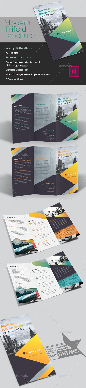 Business Trifold Brochure - Brochures Print Templates