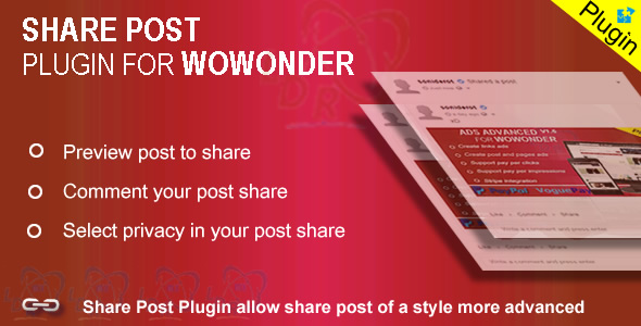 Plugin Share For Wowonder - CodeCanyon Item for Sale