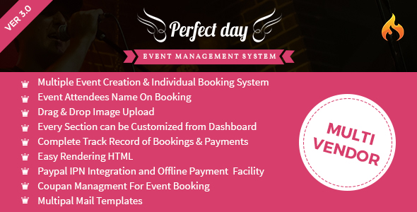 Event Management System - Perfect Day - CodeCanyon Item for Sale