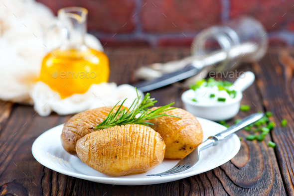 baked potato - Stock Photo - Images